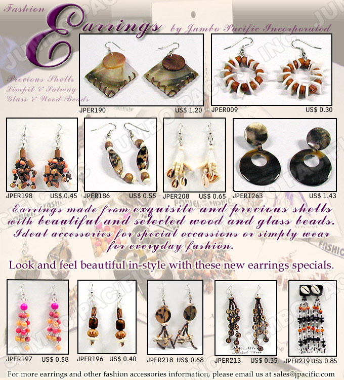 Fashion Earrings Philippine natural jewelry