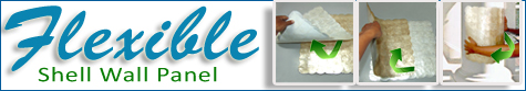 Flexible Capiz shell tile panel products