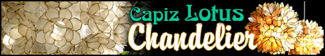 Capiz Lotus Chandeliers