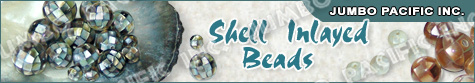 Shell Inlayed Beads