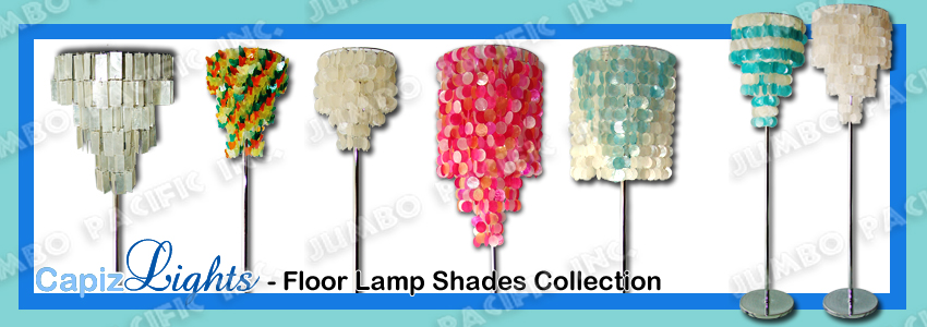 Capiz lamp shades table and floor home decoration capiz floor lamp shades collection made of capiz shell and chrome plated metal frames with electric fitting and bulb holder best for your home decoration mozeypictures Images