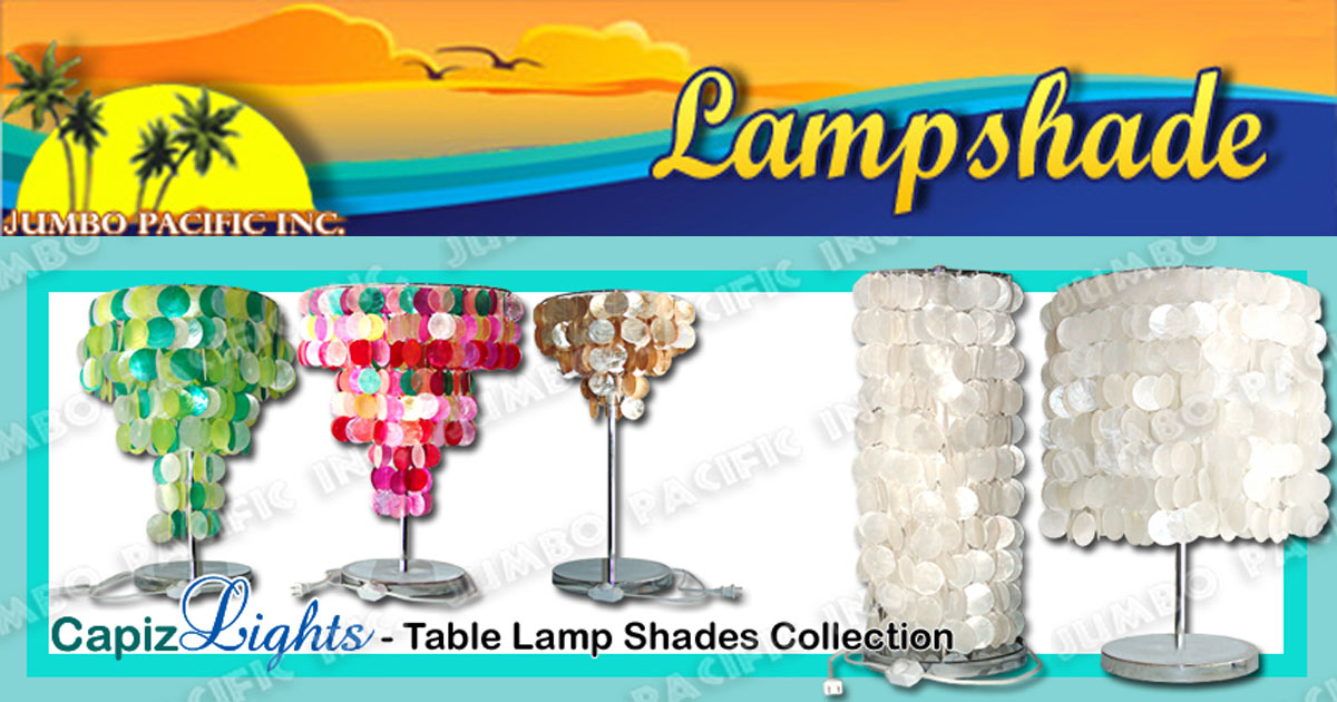 Capiz Lamp Shades Table And Floor Home Decoration