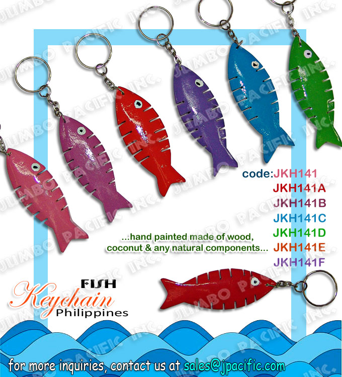 Fish Keychain Handmade Philippines keychain manufacturer and wholesale for export quality handmade keychain made of natural material or components which is the design theme by Philippine popular symbols.