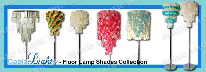 Capiz Floor lampshades