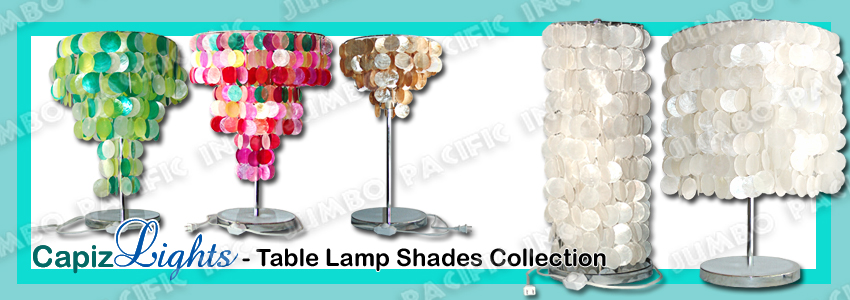 Capiz Table Lampshades