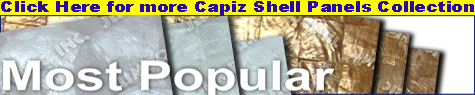 Capiz shell panel products